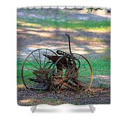 Antique Farm Equipment Shower Curtain