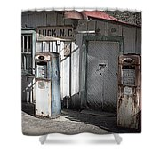 Antique Gas Pumps Shower Curtain