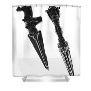Antique Indian Fighting Dagger Shower Curtain