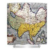 Antique Map Of Asia Shower Curtain