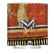 Antique Mercury Auto Logo Shower Curtain