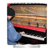 Antique Playtone Piano Shower Curtain