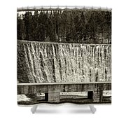 Antique Polish Waterfall Shower Curtain