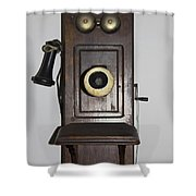 Antique Telephone Shower Curtain