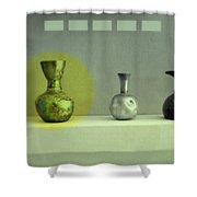 Antique Vases Still Life Altered II Shower Curtain