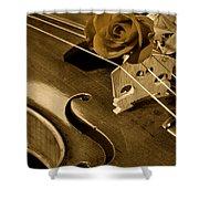 Antique Violin Viola Shower Curtain