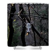Antlers - Skull - In The Air Shower Curtain