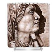 Apache Chief Shower Curtain