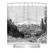 Apache Summit Siera Blanco Shower Curtain by Jack Pumphrey