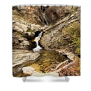 Apikuni Falls Shower Curtain