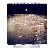 Apollo 12 Lunar Lander Shower Curtain