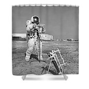 Apollo 13 Astronaut Walks Shower Curtain