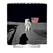 Apollo 14 Astronaut Stands Shower Curtain