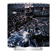 Apollo 14 Lunar Experiments Shower Curtain