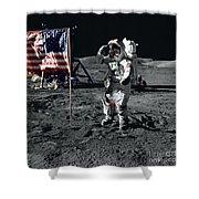 Apollo 17 Astronaut Salutes The United Shower Curtain