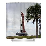 Apollo 4 And Its Mobile Launch Tower Shower Curtain