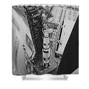 Apollo 500-f Saturn V Rocket Shower Curtain