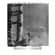 Apollo 8: Launch, 1968 Shower Curtain