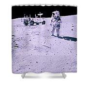 Apollo Mission 16 Shower Curtain