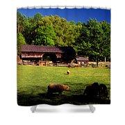 Appalachian Barn Yard Shower Curtain
