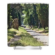 Appian Way In Rome Shower Curtain