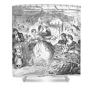 Apple Bee, 1859 Shower Curtain