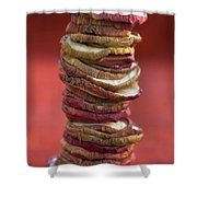 Apple Chips Shower Curtain by Joana Kruse