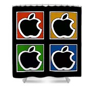 Apple Colors Shower Curtain