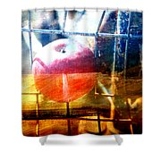 Apple In A Basket Shower Curtain
