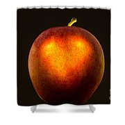 Apple With A Illuminated Heart Shower Curtain