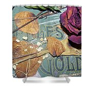 Vintage Apples Of Gold Shower Curtain