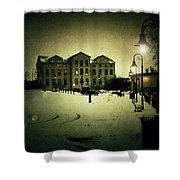 Appleton Waterfront Shower Curtain by Joel Witmeyer