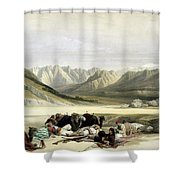 Approach To Mount Sinai Wady Barah Feby 17th 1839 Shower Curtain