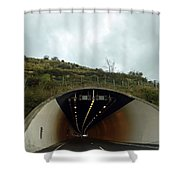 Approaching A Tunnel On A Highway In England Shower Curtain