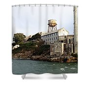 Approaching Alcatraz Shower Curtain