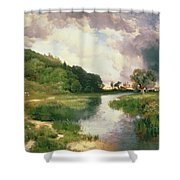 Approaching Storm Shower Curtain by Thomas Moran