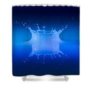 Aqua Blue Shower Curtain