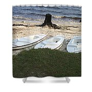 Aquafinn On River Bank Shower Curtain
