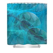 Aquamarine Shower Curtain