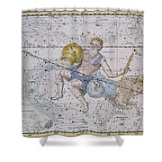 Aquarius And Capricorn Shower Curtain by A Jamieson
