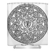 Arabic Zodiac Shower Curtain