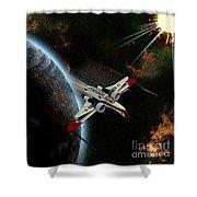 10117 Arc-170 Starfighter Shower Curtain