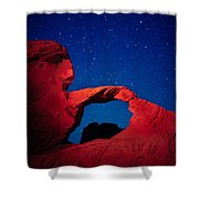 Arch In Red And Blue Shower Curtain