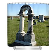 Arch Tombstone Shower Curtain
