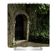 Arched Doorway With Iron Grate Shower Curtain