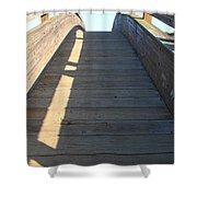 Arched Pedestrian Bridge At Martinez Regional Shoreline Park In Martinez California . 7d10525 Shower Curtain