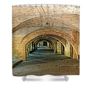 Arched Walkway In Provence Shower Curtain