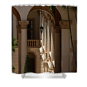 Arches And Columns At The Biltmore Hotel Shower Curtain