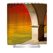 Arches At Sunset Shower Curtain by Carlos Caetano