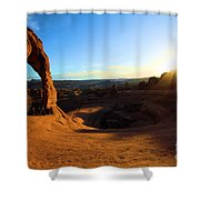 Arches Starburst Shower Curtain